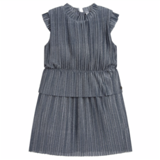 3 Pommes 3 Pommes Silver Pleated Dress