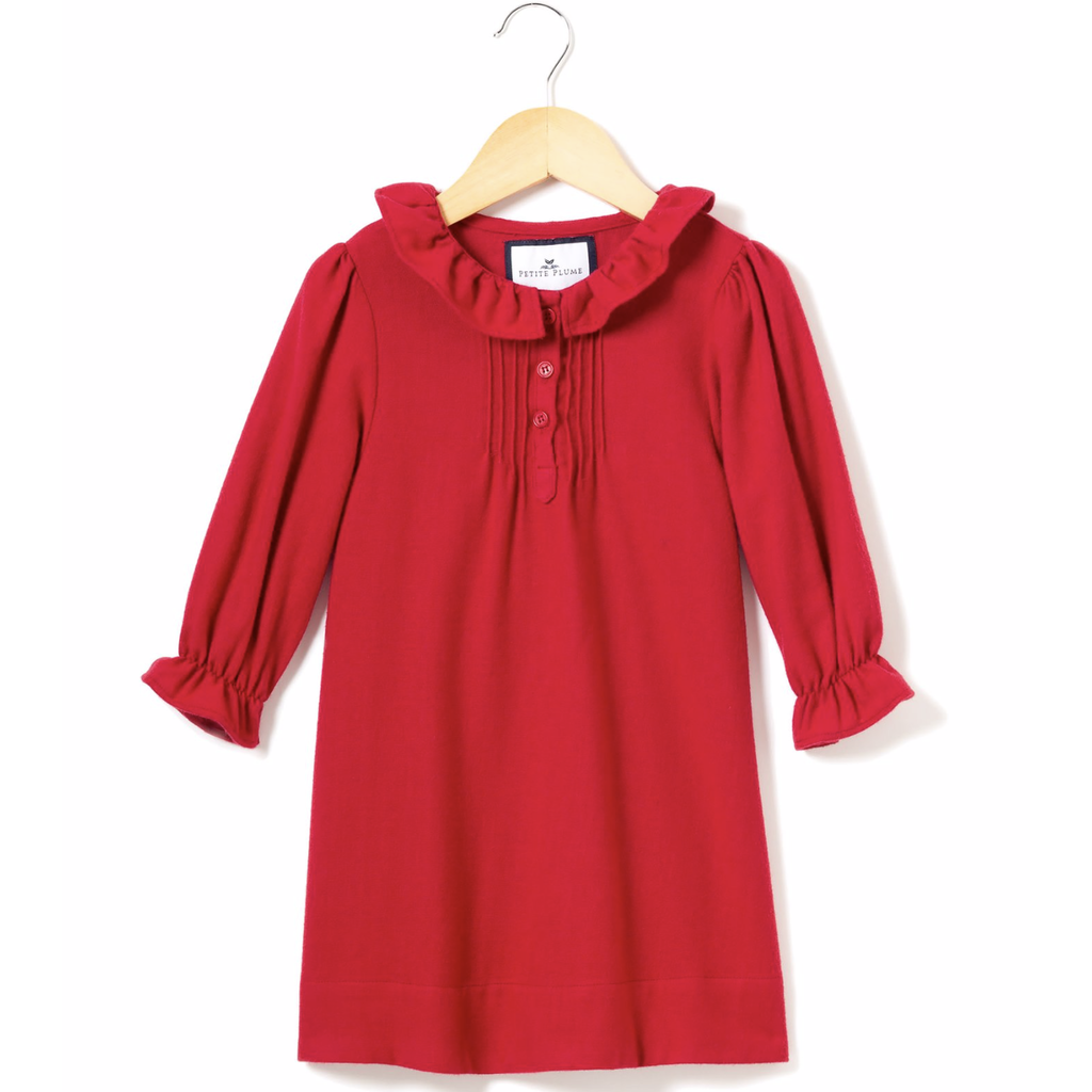 Petite Plume Petite Plume Victoria Red Flannel Nightgown