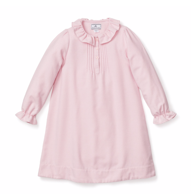 Petite Plume Petite Plume Victoria Pink Flannel Nightgown