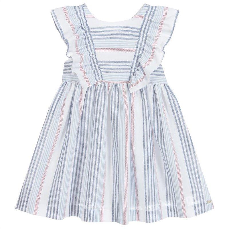 Tartine et Chocolat Tartine Red White Blue Stripe Ruffle Dress