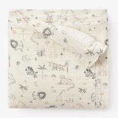 Elegant Baby Elegant Baby Leo Lion Fleece/Muslin Blanket
