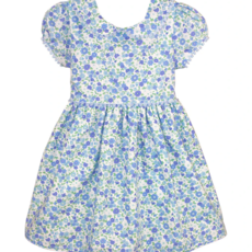 Isabel Garreton Isabel Garreton Floral Blue SS Dress
