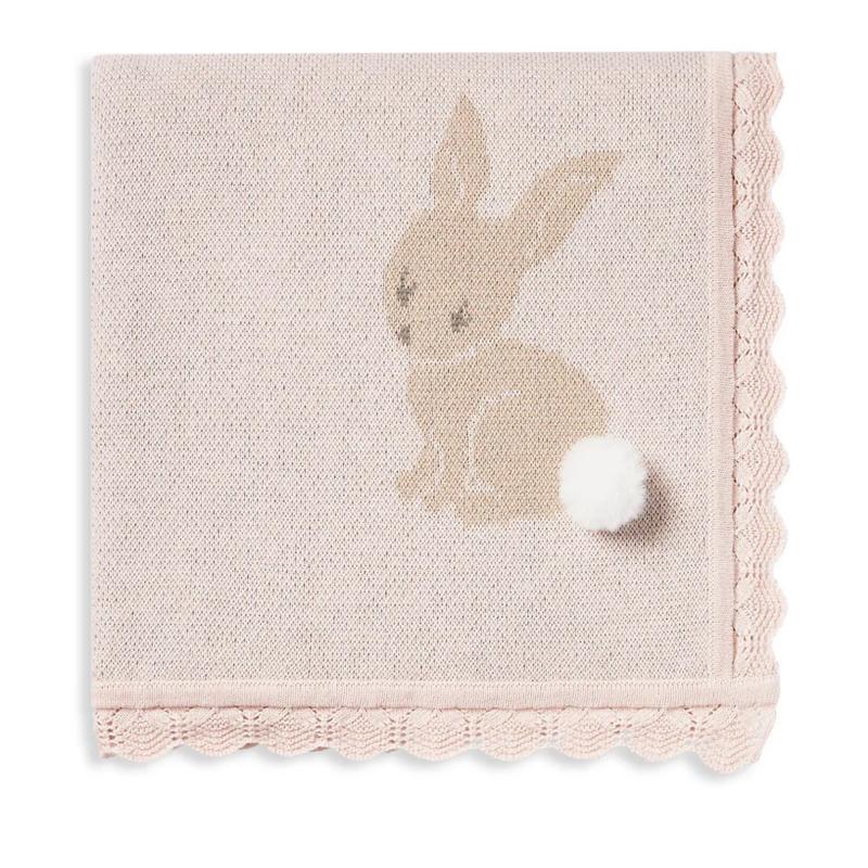 Elegant Baby Elegant Baby Pink Bunny Knit Blanket