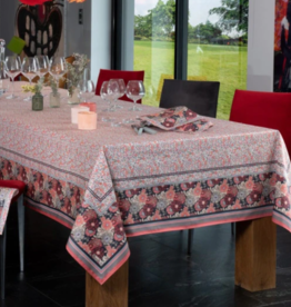 Beauville Beauville Giverny Pink Tablecloth 67x122