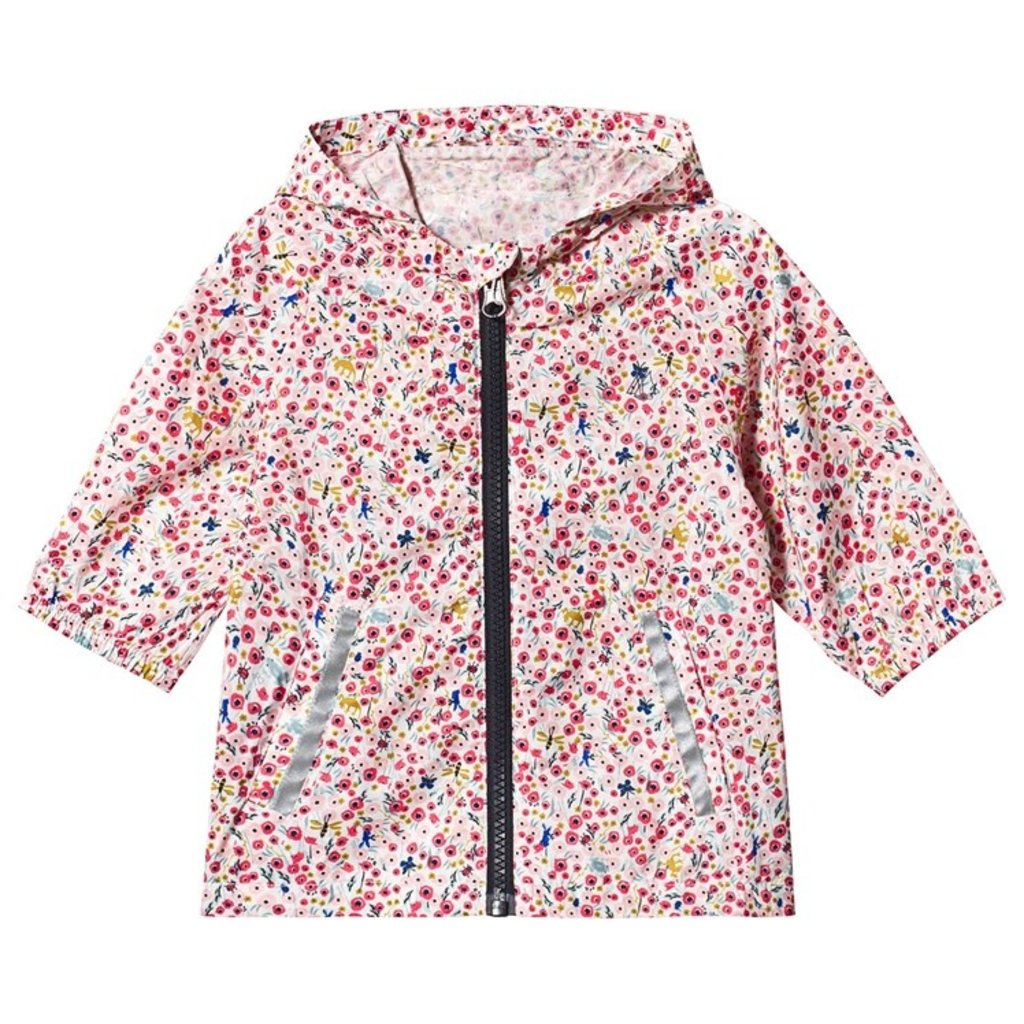 Petit Bateau Petit Bateau Rain Jacket with Pink Flower Print