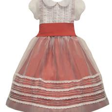 Isabel Garreton Isabel Garreton Red Silk Dress with Overlay