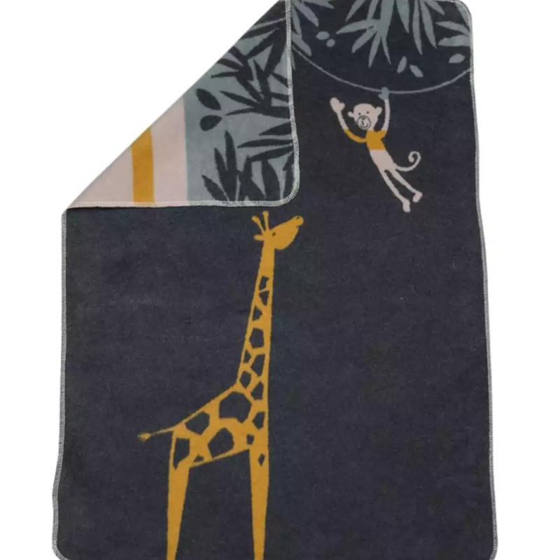 David Fussenegger David Fussenegger Baby Blanket Giraffe Charcoal