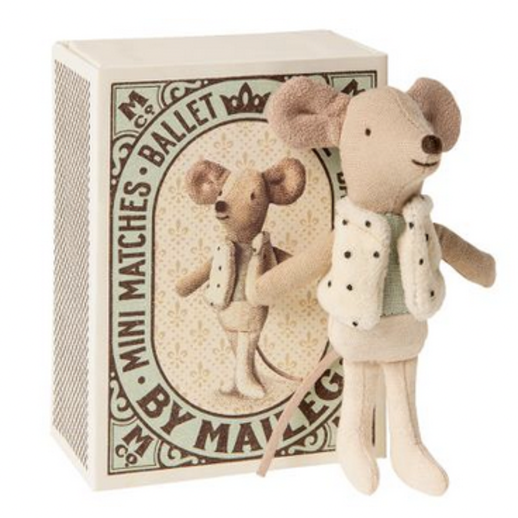 Maileg Maileg Dancer in Matchbox Little Brother Mouse