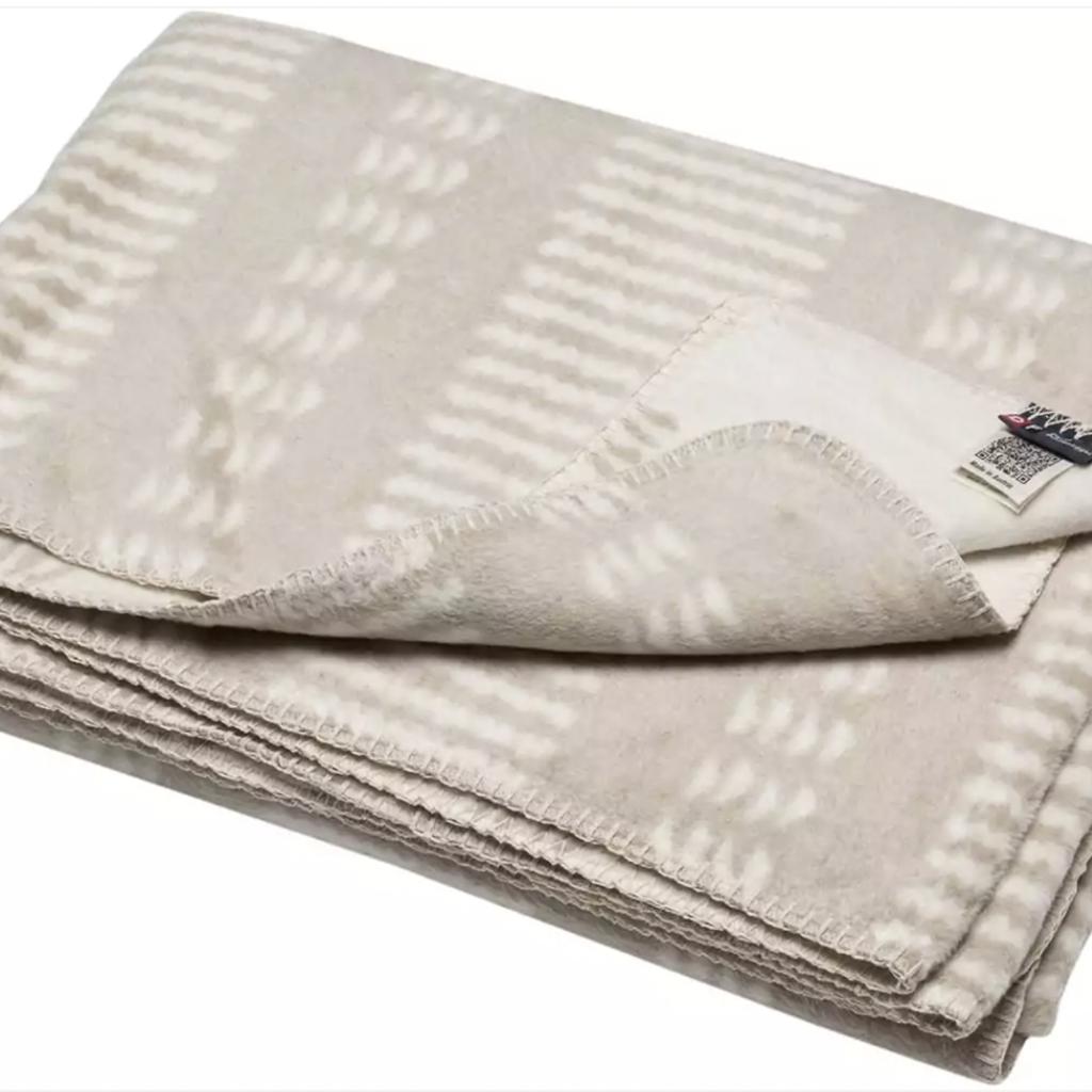 David Fussenegger David Fussenegger Bamboo Off White Beige Blanket