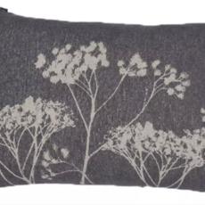 David Fussenegger David Fussenegger Floral Grey Pillow