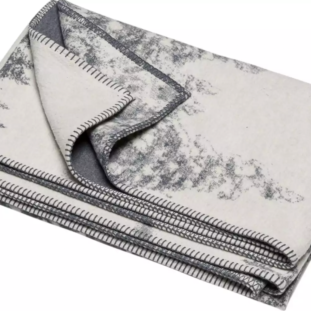 David Fussenegger David Fussenegger Blanket Off White Grey Fir Trees