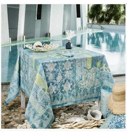 "Beauville BV Tablecloth Rialto 67""x95"" Turquoise"