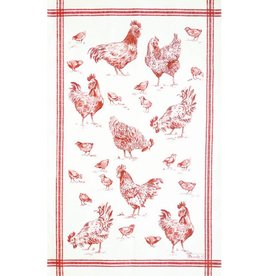 Beauville BV dishtowel bassecour red
