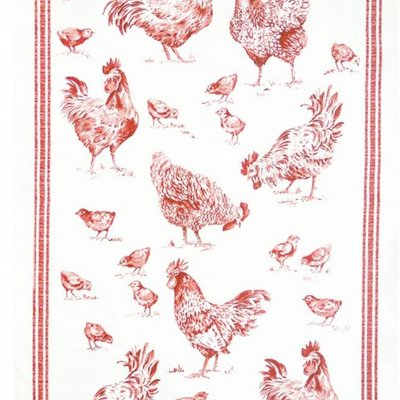 Beauville Beauville Dishtowel Bassecour Red