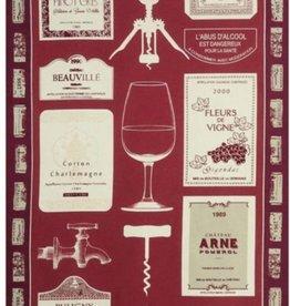 Beauville Beauville Dishtowel Bouchons Red