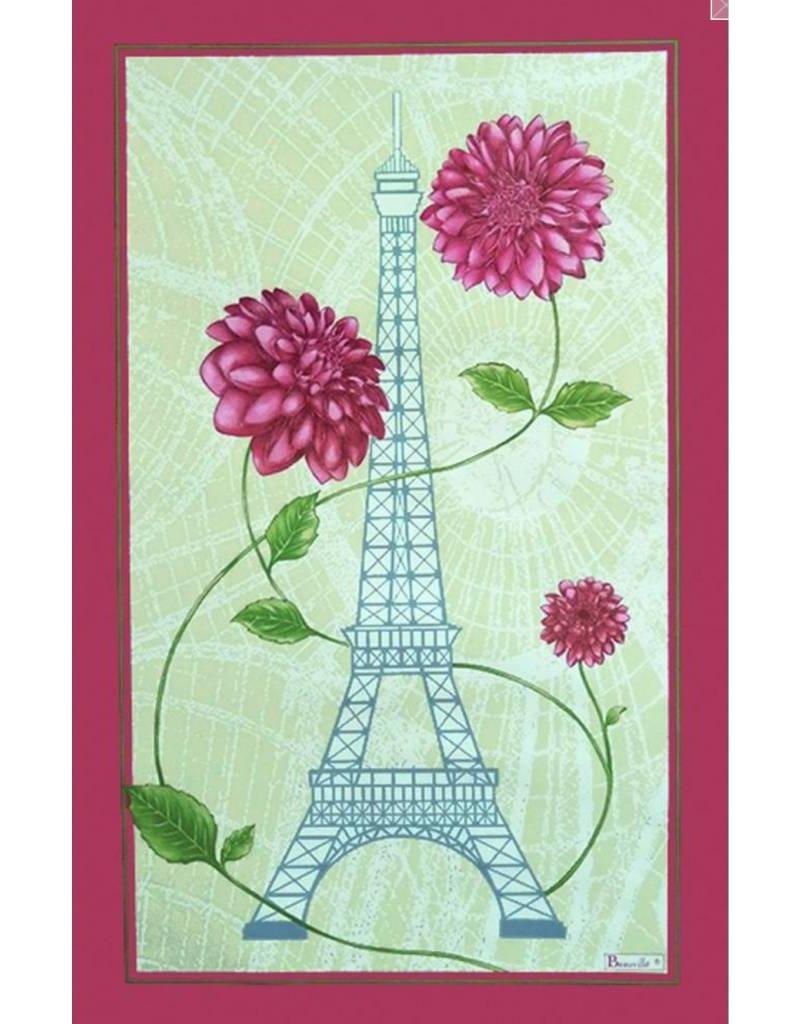 Beauville Beauville Dishtowel Tour Eiffel Fleuri