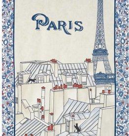 Beauville Beauville Dishtowel Toits de Paris Blue