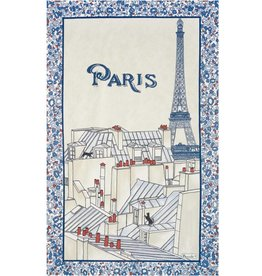 Beauville Beauville Dishtowel Toits de Paris Blue