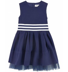 Jean Bourget JB Dress Navy Raye JL31022 S18