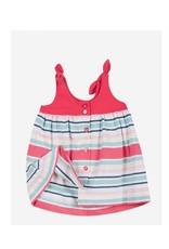 Jean Bourget Jean Bourget Dress Baby Coral Stripe