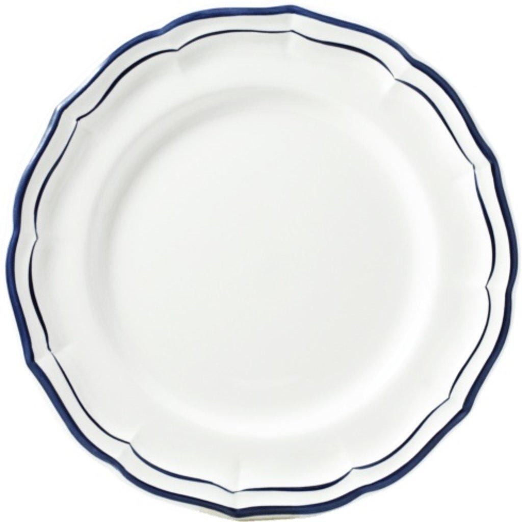 Gien Filet Indigo Dessert Plate