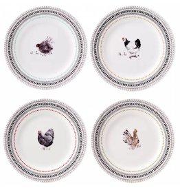 Gien Gien Coquettes,Dessert Plates,  Set of 4