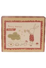 Maileg MAILEG 6 Piece Melamine Bunny Honey Set