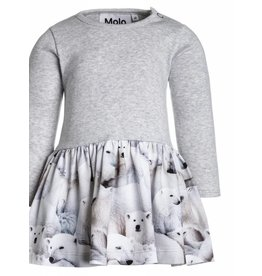 MOLO MOLO Dress Credence Polar Bear W18