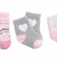 Elegant Baby Elegant Baby Fuzzy Socks 3 Pack Pink