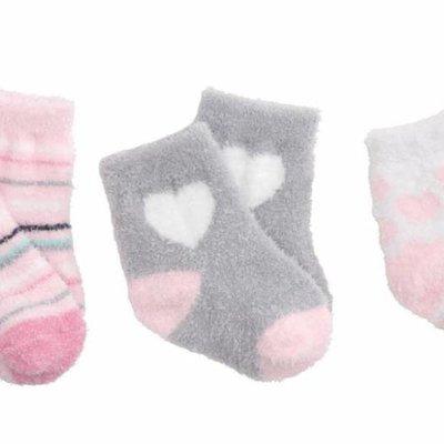 Elegant Baby EB Fuzzy Socks 3 Pack Pink