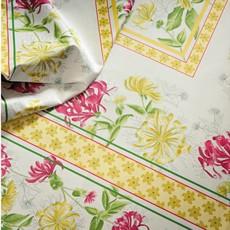 "Beauville Beauville Tablecloth Jardin Yellow/Green 67"" x 67"""