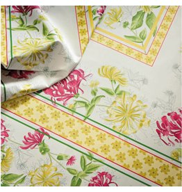 "Beauville BV Tablecloth Jardin Yellow/Green 67"" x 67"""