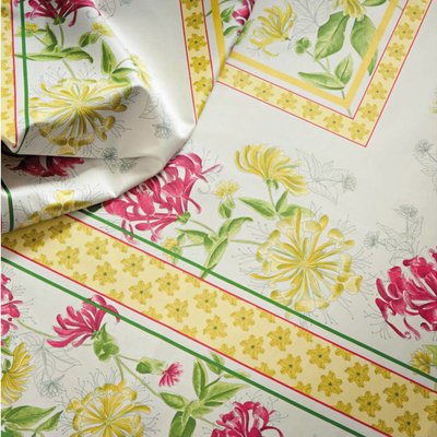 "Beauville Beauville Tablecloth Jardin Yellow/Green 67"" x 67"""