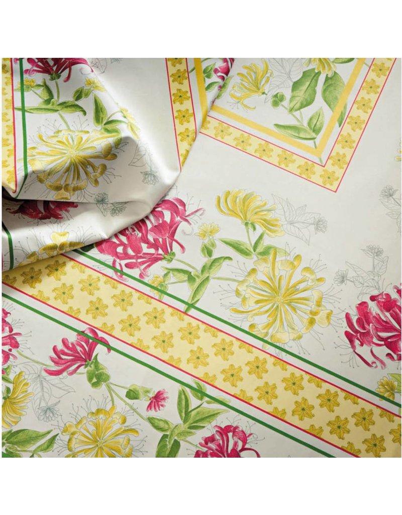 "Beauville BV Tablecloth Jardin Yellow/Green 67"" x 67"""