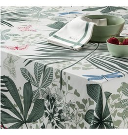 Beauville BV tablecloth Grandes PalmesGreen 67 x 67