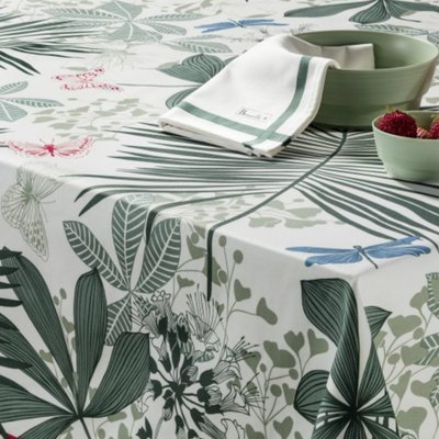 Beauville Beauville Tablecloth Grandes Palmes Green 67 x 67