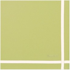 Beauville Beauville Napkin Leaf Green White Stripe
