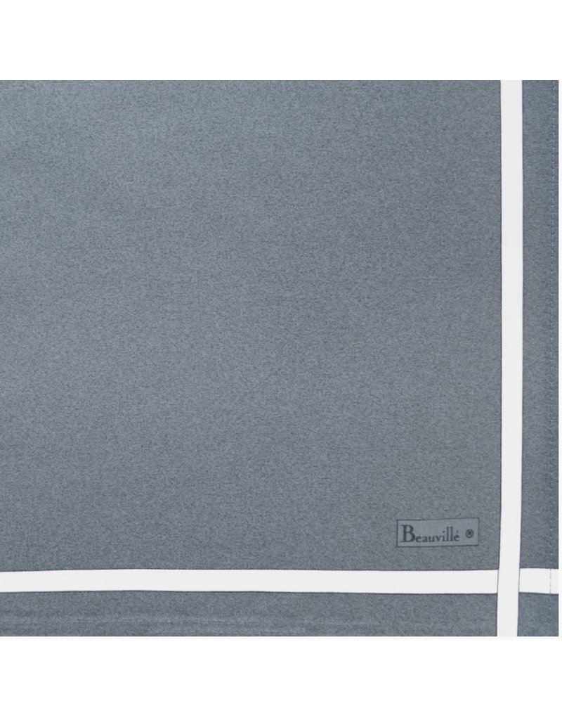 Beauville Beauville Napkin Grey White Stripe