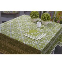 "Beauville BV Tablecloth Avignon Green 67""x94"""