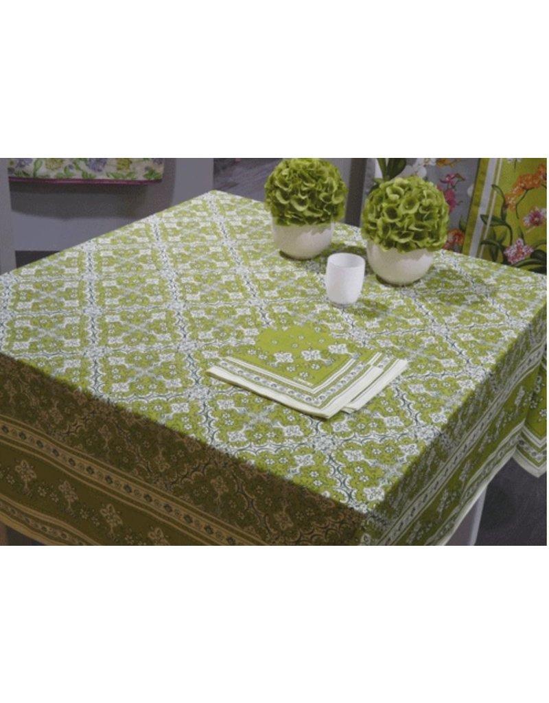"Beauville BV Tablecloth Avignon Green 67""x94"""