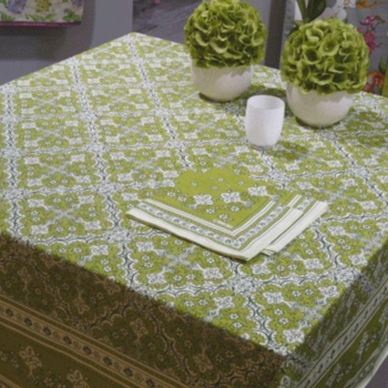 """Beauville Beauville Tablecloth Avignon Green 67""""x94"""""""