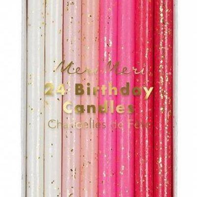 Meri Meri Meri Meri Birthday Candles S/24 Pink
