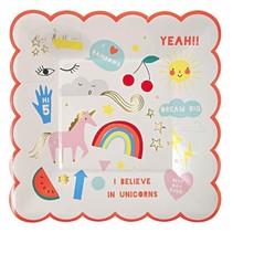 Meri Meri Meri Meri Party Plates Unicorns S/8