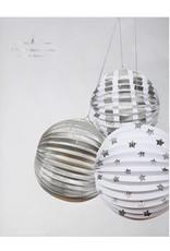 Meri Meri Meri Meri  Paper Globes S/3 Silver Foil