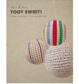 Meri Meri Meri Meri Paper Globes spots/stripes