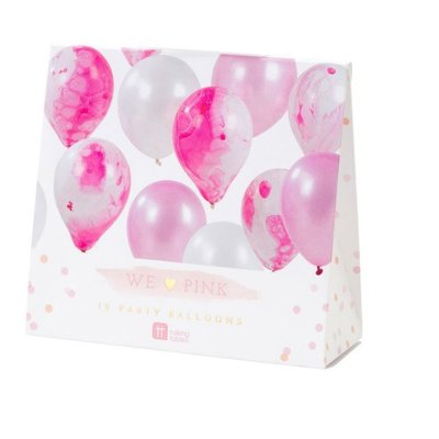 Talking Tables Talking Tables Marble Balloon 12pk Pink