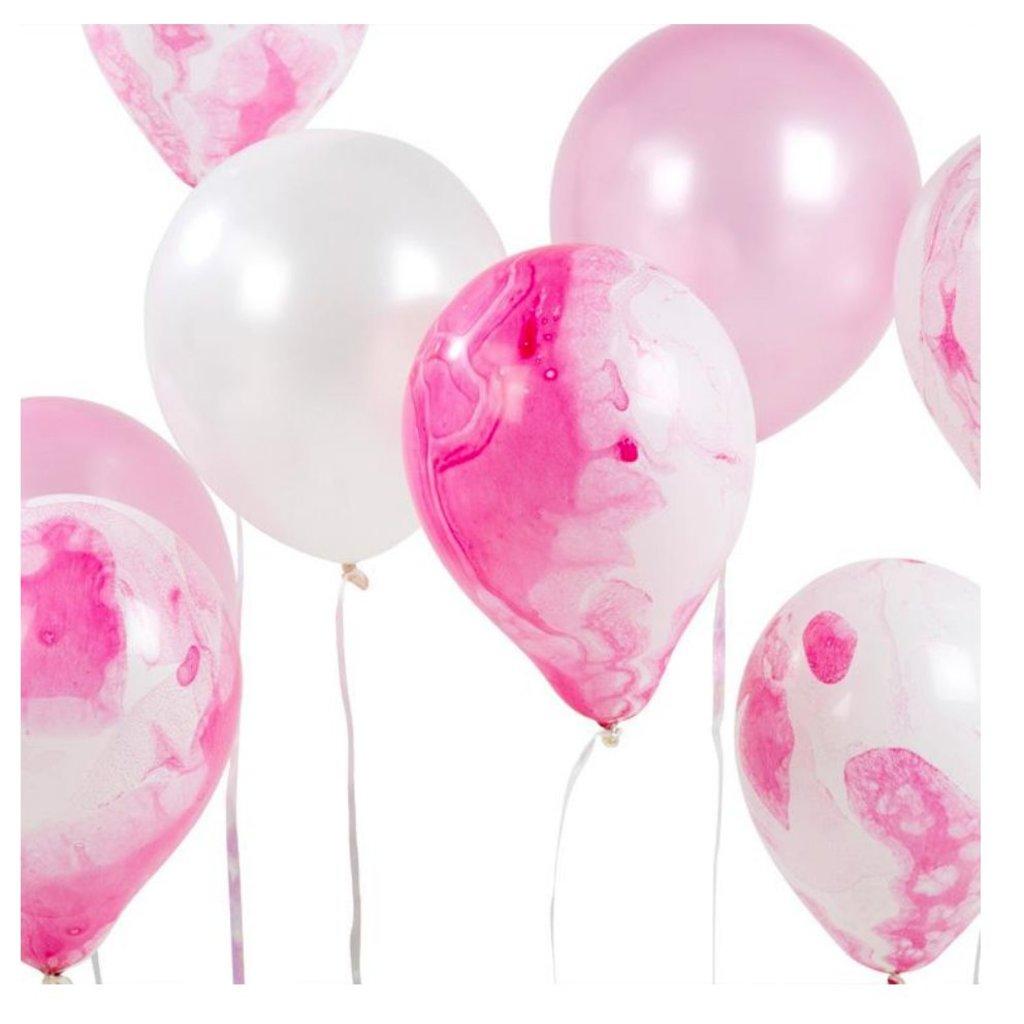 Talking Tables Talking Tables Marble Balloon 12pk Pink