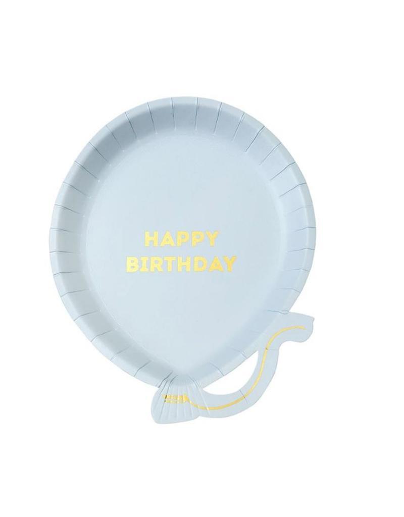 not tracked Talking Tables We Heart Birthdays Balloon Plate Pk Blue