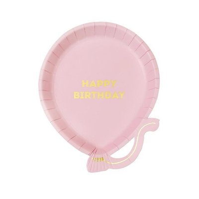Talking Tables Talking Tables We Heart Birthdays Balloon Plate Pk Pink
