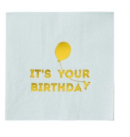 Talking Tables We Heart Birthdays Napkins Blue
